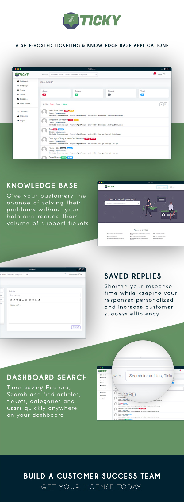 Ticky - Support Ticketing System & Knowledge base - 1